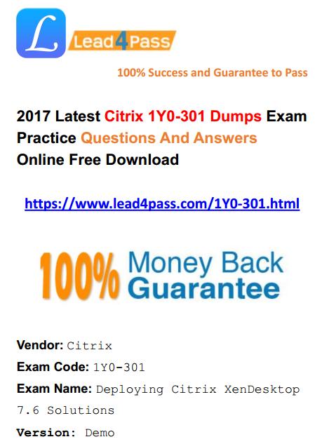 1Y0-301 dumps