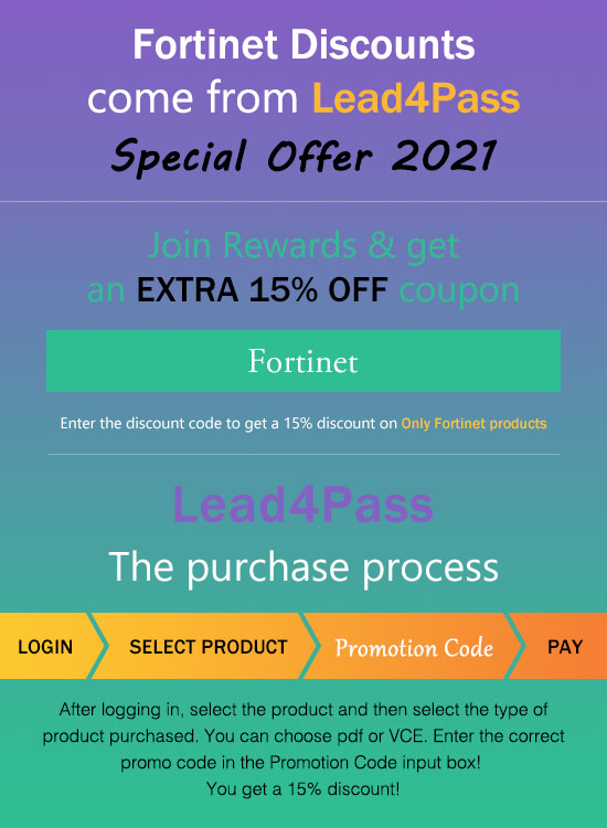 fortinet coupon code